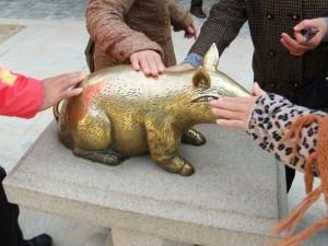 仏国寺の金運豚